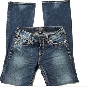 Silver Suki Jeans Medium Wash Bootcut Size 26